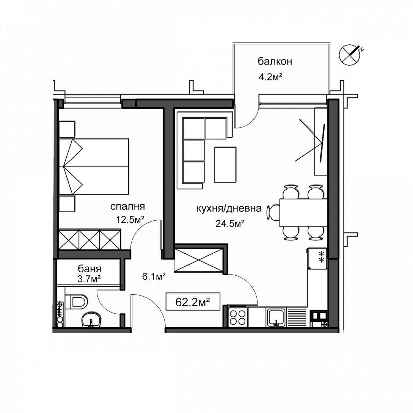 Архитектурни планове на Комплекс Нове Хоумс - Сграда А
