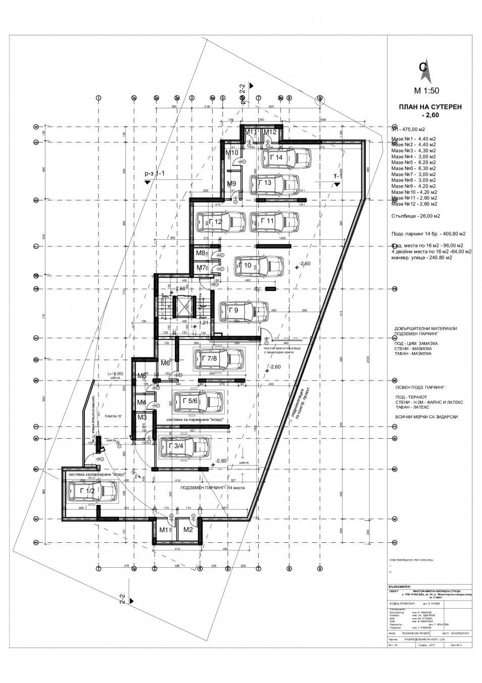 Архитектурни планове на Сграда Николина