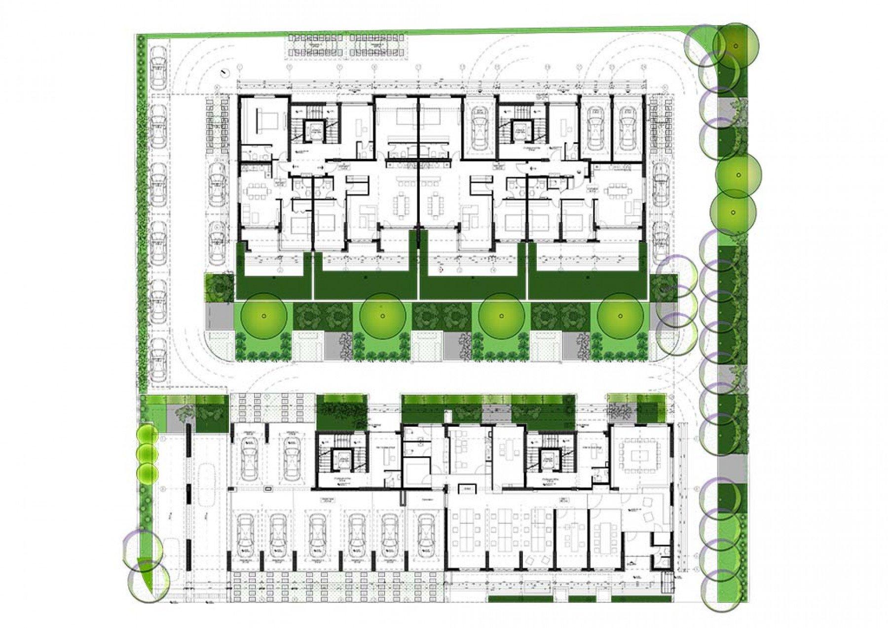 Архитектурни планове на Жилищен комплекс Kanso